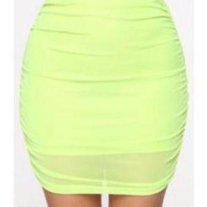 Neon Green Mini Skirt